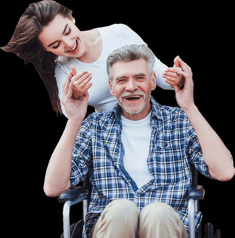 Happy elderly man thanks to The Senior Living Locators
