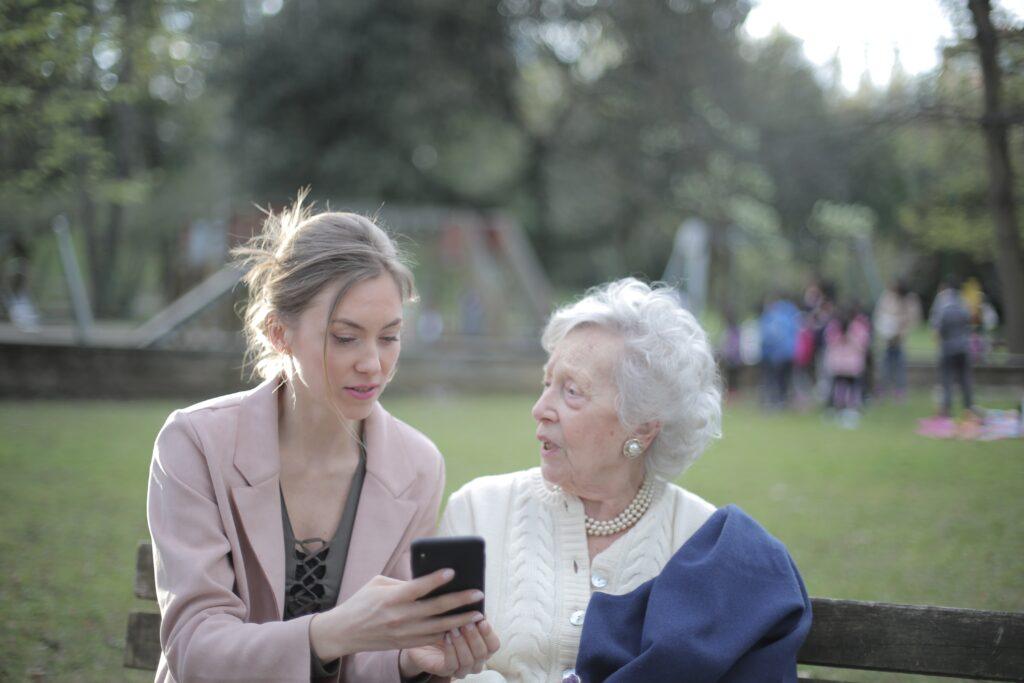 Happy elderly woman thanks to The Senior Living Locators